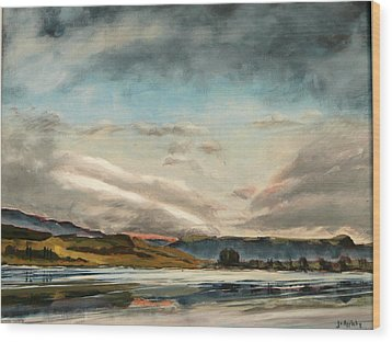 Across The Loch Wood Print