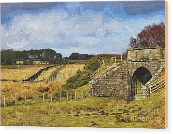 Across The Old Railway - Phot Art Wood Print