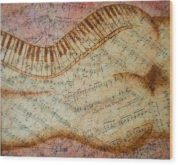 Across The Universe Wood Print by Abigail Avila