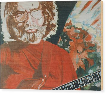 Wood Print featuring the painting Acrylic Jerry by Stuart Engel