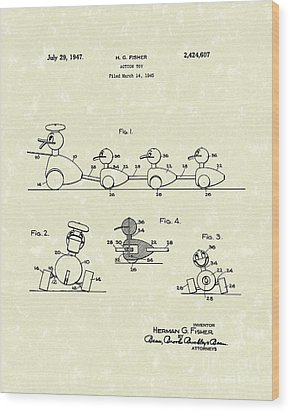 Action Toy 1947 Patent Art Wood Print by Prior Art Design