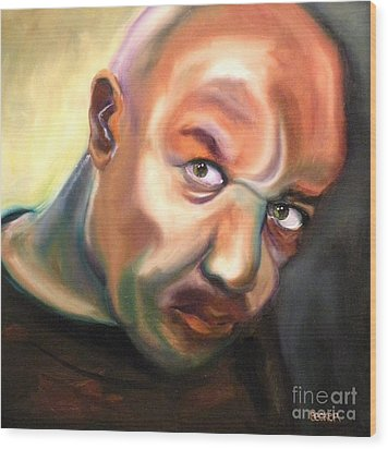 Actor Delroy Lindo Wood Print by Susan A Becker