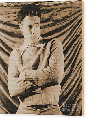 Actor Marlon Brando 1948 Wood Print by Padre Art