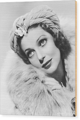 Actress Loretta Young Wood Print