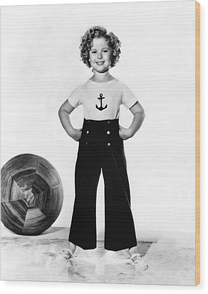Actress Shirley Temple Wood Print by Underwood Archives