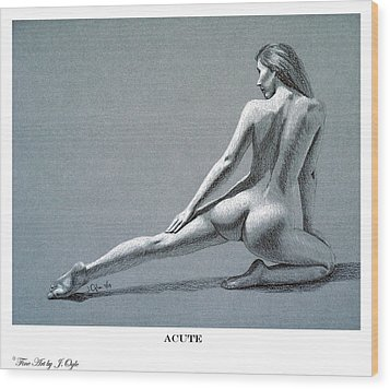 Wood Print featuring the drawing Acute Print Version by Joseph Ogle