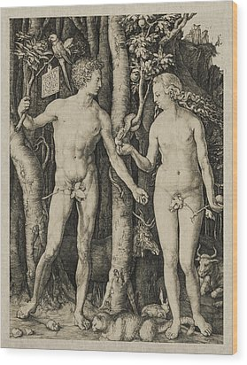 Adam And Eve Wood Print by Aged Pixel