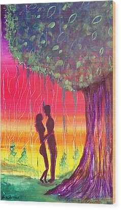 Adam And Eve Wood Print by Fore Lima and Donnelly