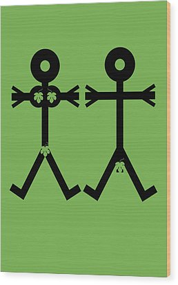 Adam And Eve Icon Wood Print by Thisisnotme