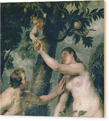 Adam And Eve Wood Print by Rubens