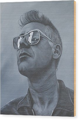 Adam Clayton U2 Wood Print