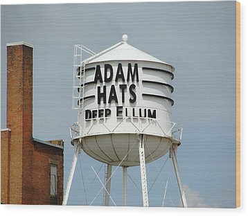 Wood Print featuring the photograph Adam Hats In Deep Ellum by Charlie and Norma Brock
