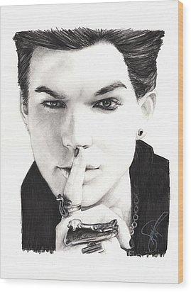 Adam Lambert Wood Print by Rosalinda Markle
