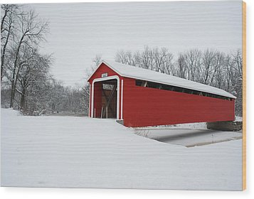 Adams County Indiana Ceylon Bridge Wood Print