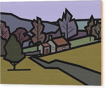 Adam's Farm Wood Print by Kenneth North