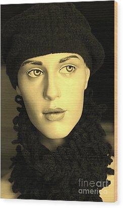 Adele 3 Wood Print by Sophie Vigneault