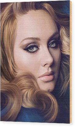 Adele Artwork  Wood Print