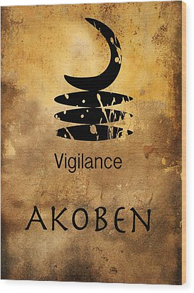 Adinkra  Akoben Wood Print