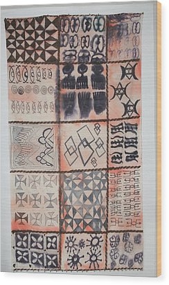 Adinkra Cloth With Bells Wood Print