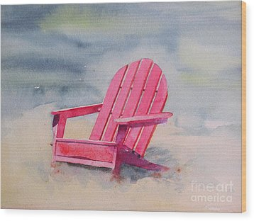 Adirondack At The Beach Wood Print by Ranjini Kandasamy
