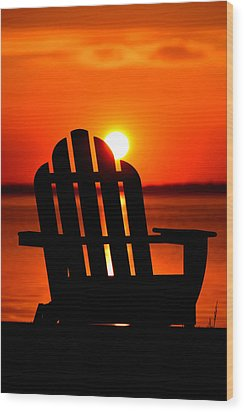 Adirondack Days End Wood Print by William Bartholomew