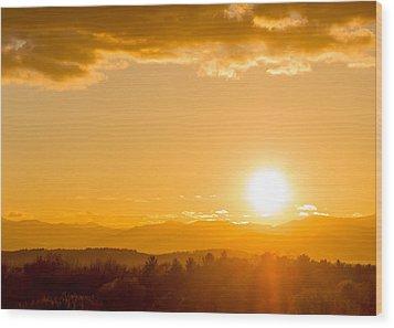 Adirondack Sunset Wood Print by Jeremy Farnsworth