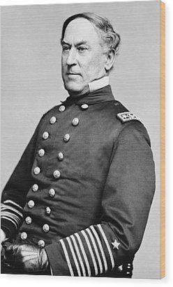 Admiral David Farragut Wood Print by War Is Hell Store