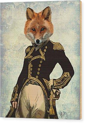 Admiral Fox Full Wood Print by Kelly McLaughlan