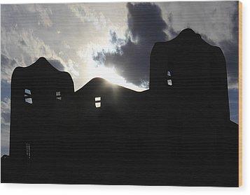 Adobe In The Sun Wood Print by Mike McGlothlen