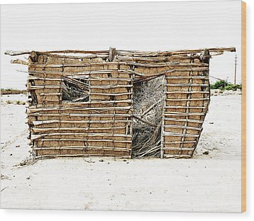 Wood Print featuring the photograph Adobe Shack 1 by Lin Haring