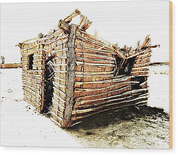 Wood Print featuring the photograph Adobe Shack 2 by Lin Haring