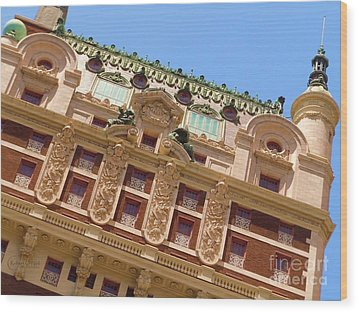 Wood Print featuring the photograph Adolphus Hotel - Dallas #1 by Robert ONeil