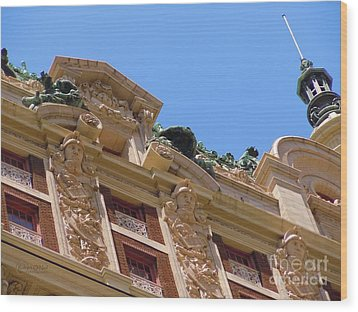 Wood Print featuring the photograph Adolphus Hotel - Dallas #2 by Robert ONeil