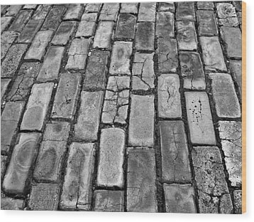 Adoquines - Old San Juan Pavers Wood Print