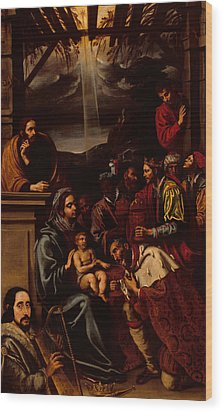 Adoration Of The Magi Wood Print by Unknown