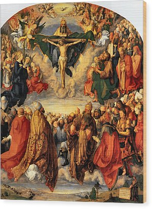 Adoration Of The Trinity Wood Print by Albrecht Durer