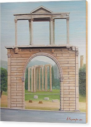 Adrian's Gate Wood Print by Anastassios Mitropoulos