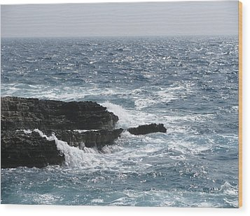 Adriatic Sea Wood Print by Eva Csilla Horvath