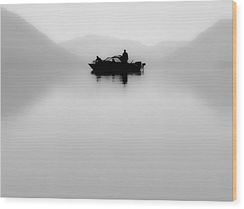 Wood Print featuring the photograph Adrift by Aaron Aldrich