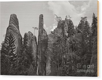 Adrspach Rocks - Czech Republic Wood Print by Martin Dzurjanik