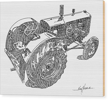Advance Rumely Wood Print by Ken Nickle