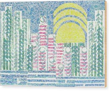 Cloud City Wood Print