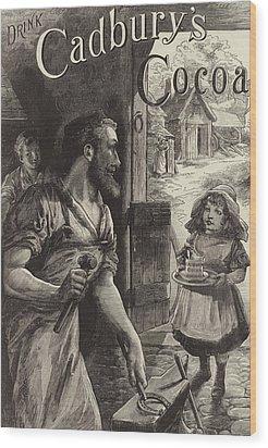 Advertisement For Cadburys Drinking Cocoa Wood Print by English School