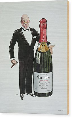 Advertisement For Heidsieck Champagne Wood Print by Sem