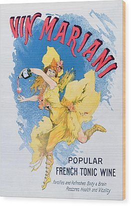 Advertisement For Vin Mariani From Theatre Magazine Wood Print by English School