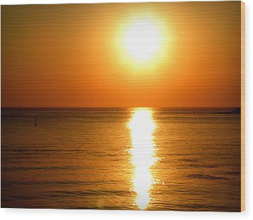 Wood Print featuring the photograph Aegean Sunset by Micki Findlay