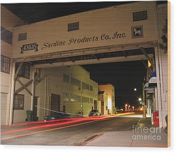 Wood Print featuring the photograph Aeneas Overpass On Cannery Row by James B Toy