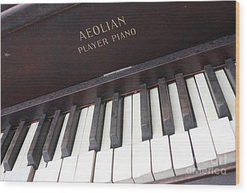 Aeolian Player Piano-3484 Wood Print by Gary Gingrich Galleries