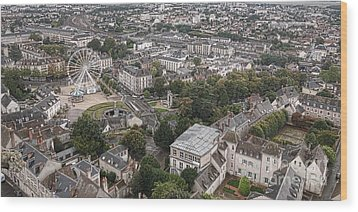 Aerial Chartres Wood Print by Olivier Le Queinec