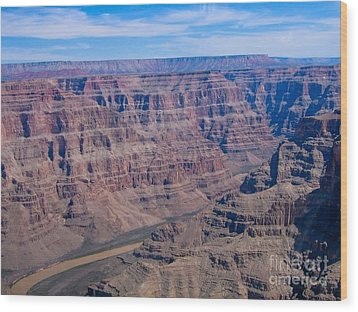 aerial Grand Canyon Wood Print by Sophie Vigneault